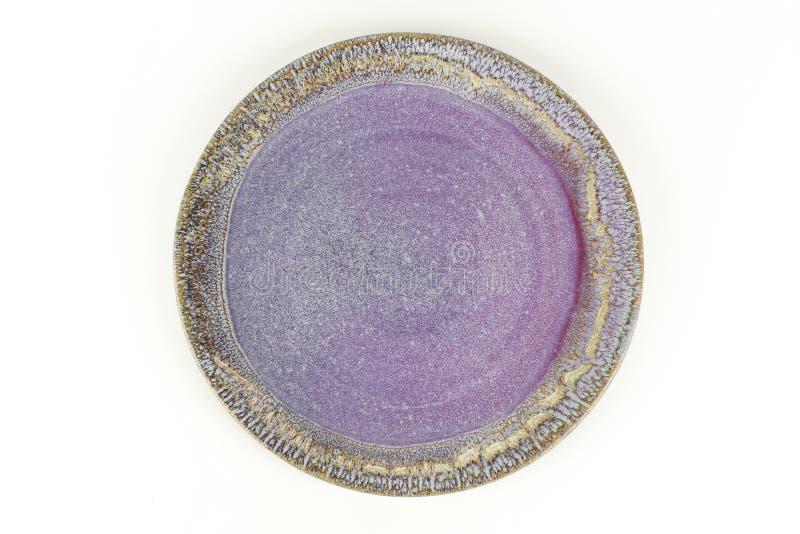 Ciotola di ceramica vuota fotografia stock