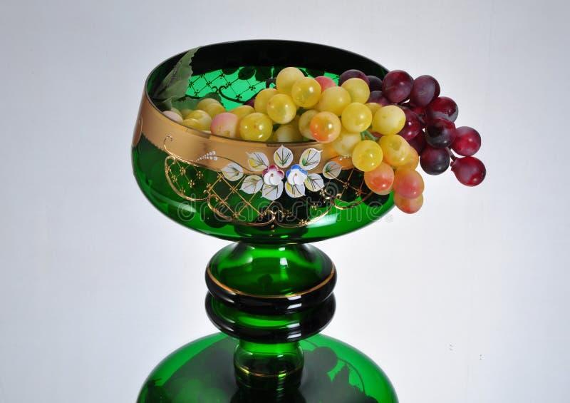 Ciotola di frutta verde fotografie stock libere da diritti