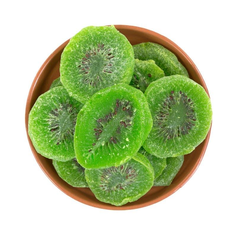Ciotola di kiwi candito fotografia stock