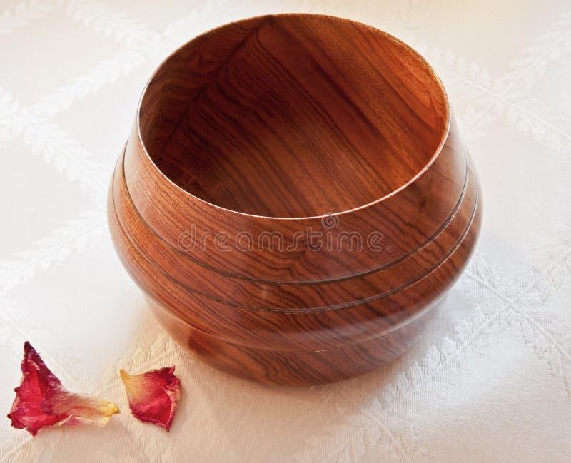 Ciotola di legno di Mopani dell'Africano fotografia stock libera da diritti
