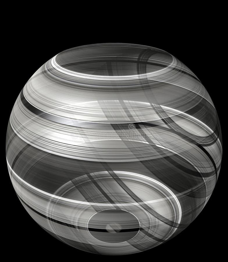 ciotola di luccichio di illusione 3d fotografia stock libera da diritti
