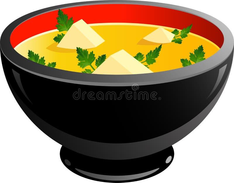 Ciotola di minestra illustrazione di stock