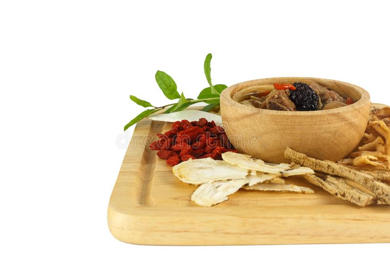 Ciotola di minestra cinese fotografia stock