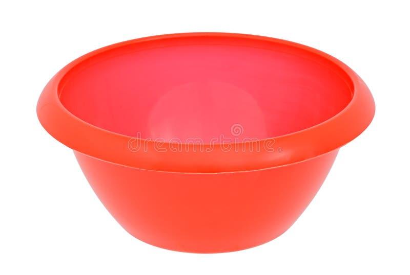 Ciotola di plastica rossa fotografia stock libera da diritti
