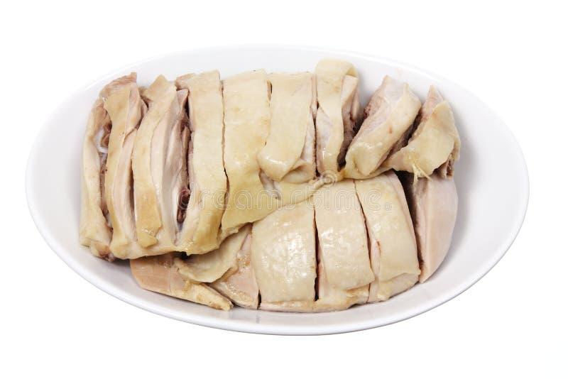 Ciotola di pollo bollito fotografia stock