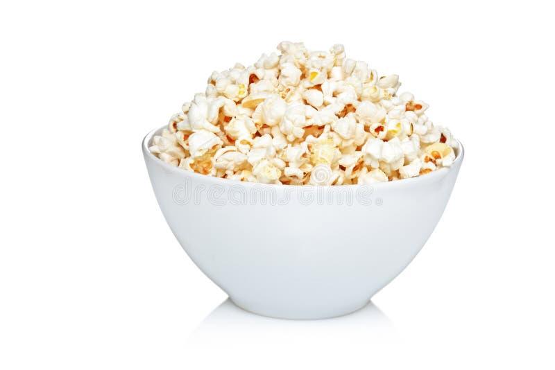 Ciotola di popcorn fotografia stock