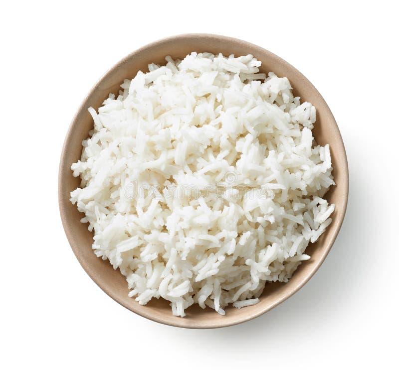 Ciotola di riso bollito fotografie stock