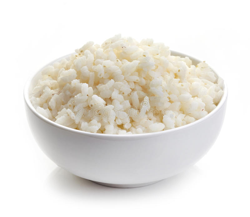 Ciotola di riso bollito fotografia stock libera da diritti