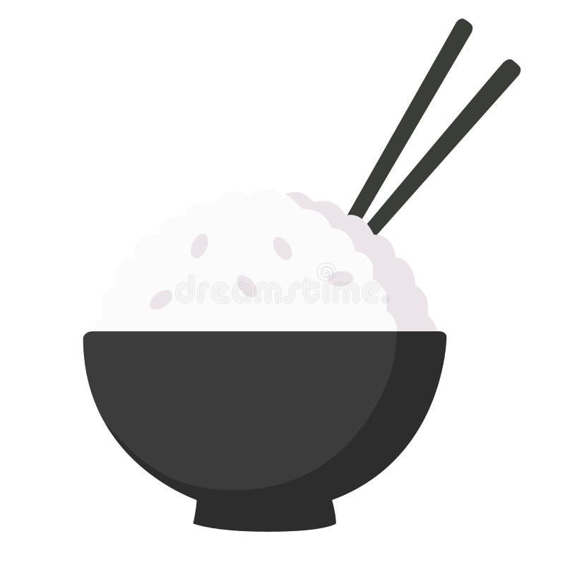 Ciotola di riso di vettore [UHD] illustrazione di stock