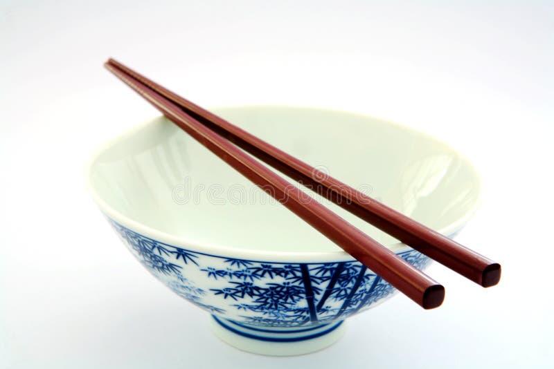 Ciotola di riso vuota fotografia stock libera da diritti