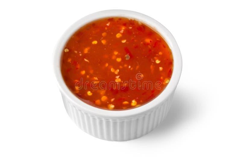 Ciotola di salsa barbecue fotografia stock