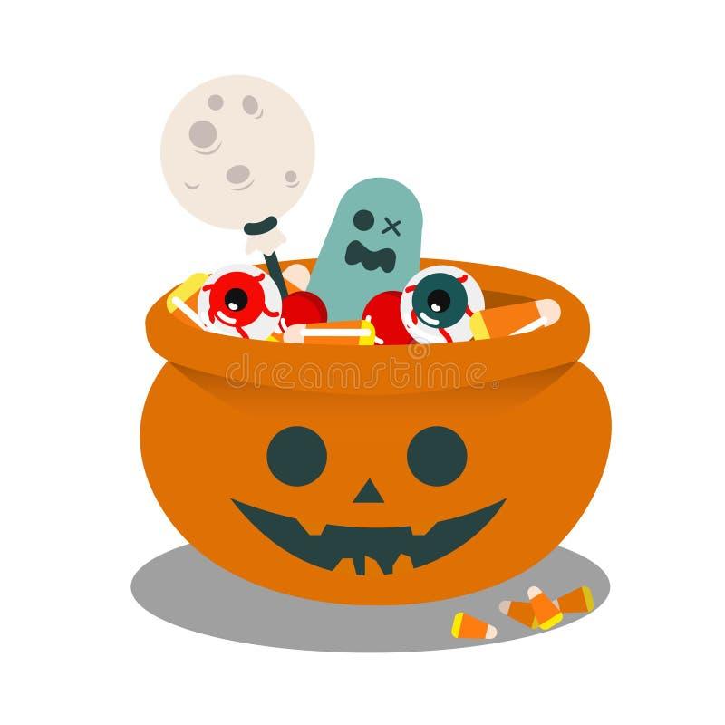 Ciotola di scherzetto o dolcetto di Halloween fotografie stock