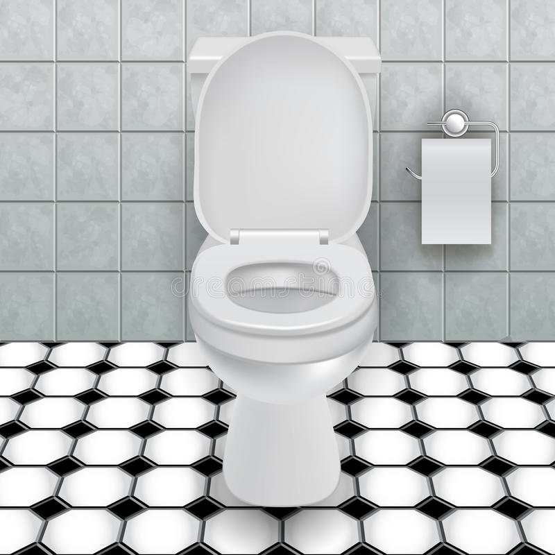 Ciotola di toilette illustrazione di stock