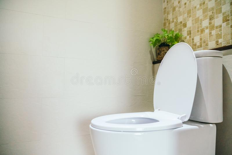 Ciotola di toilette bianca per il sedile fotografia stock libera da diritti