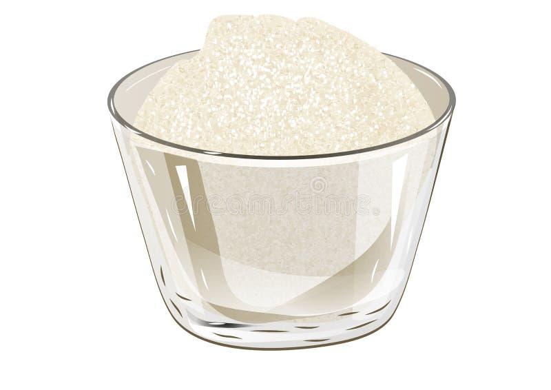 Ciotola di zucchero illustrazione vettoriale