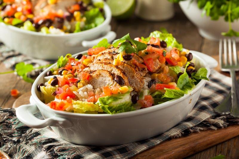 Ciotola messicana casalinga del burrito del pollo immagine stock libera da diritti