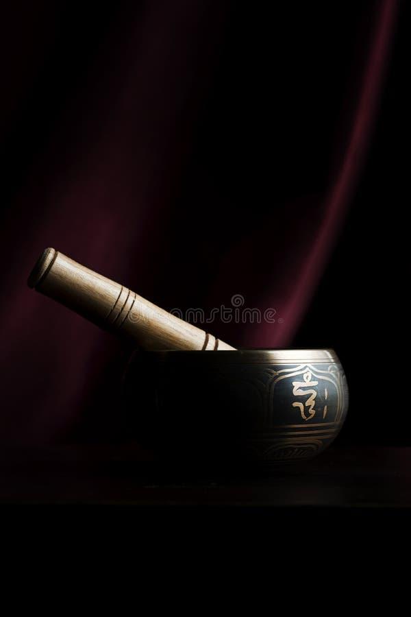 Ciotola tibetana di canto fotografia stock libera da diritti