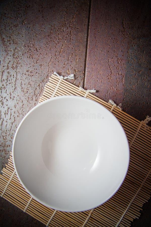 Ciotola vuota bianca immagine stock