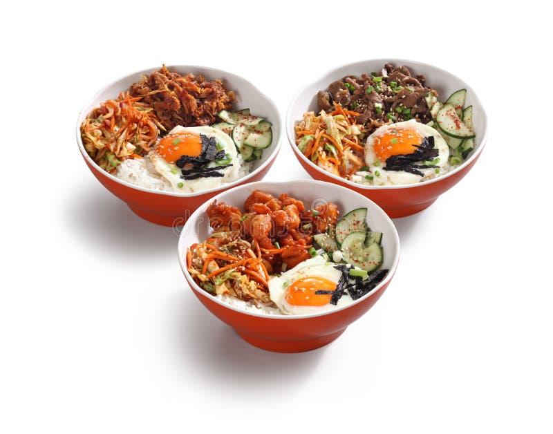 Ciotole coreane dell'alimento fotografia stock libera da diritti