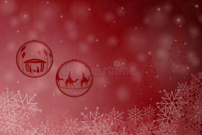 Ciotole del tempo di Natale illustrazione di stock