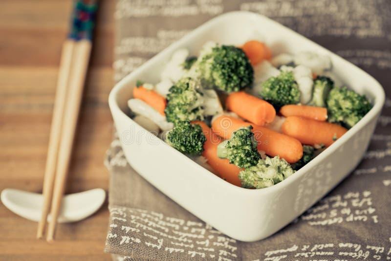 Ciotole di verdure di varietà fotografia stock