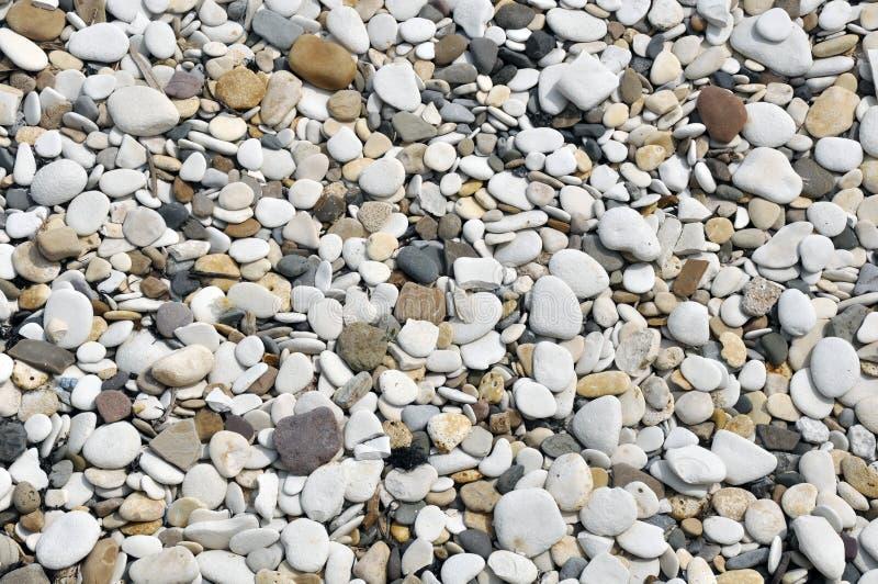 Ciottoli lisci sulla spiaggia fotografie stock libere da diritti