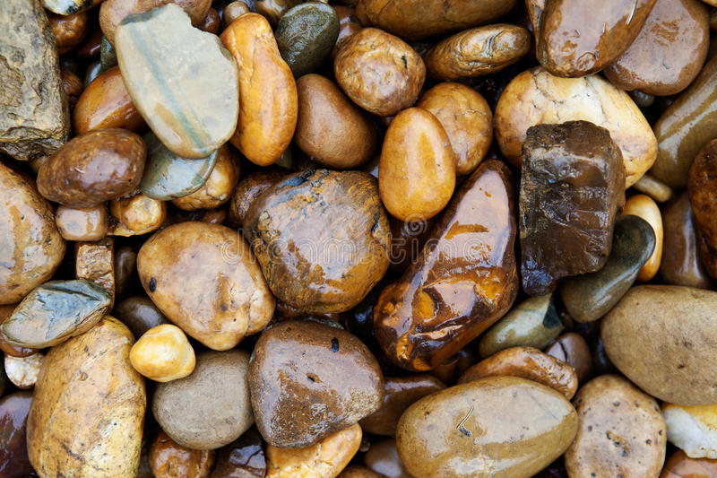 Ciottolo in pioggia fotografie stock