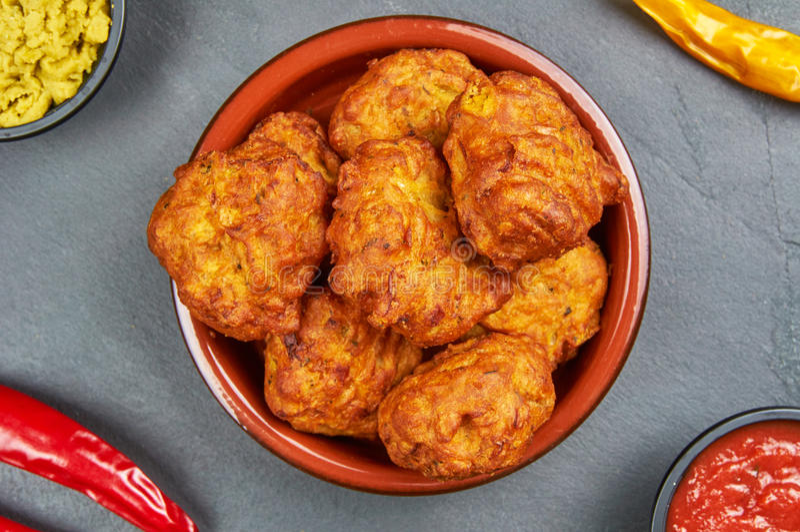 Cipolla indiana Bhajis fotografie stock libere da diritti