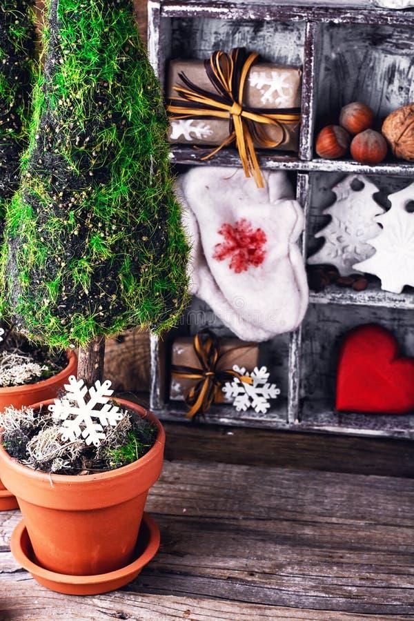 Cipresso simbolico di Natale fotografia stock