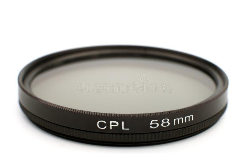 CIR che polarizza pro filtro fotografie stock