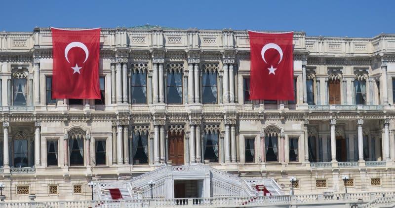 ciragan pałac, Istanbuł cieśnina, indyk zdjęcie royalty free