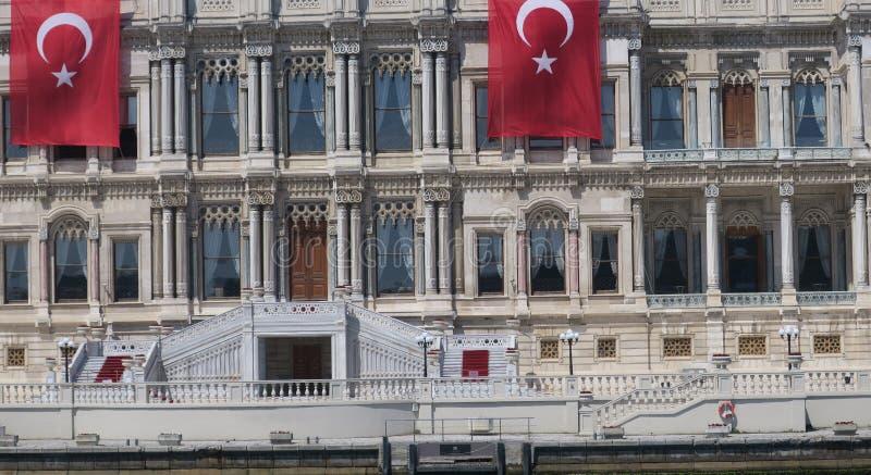 ciragan pałac, Istanbuł cieśnina, indyk fotografia stock