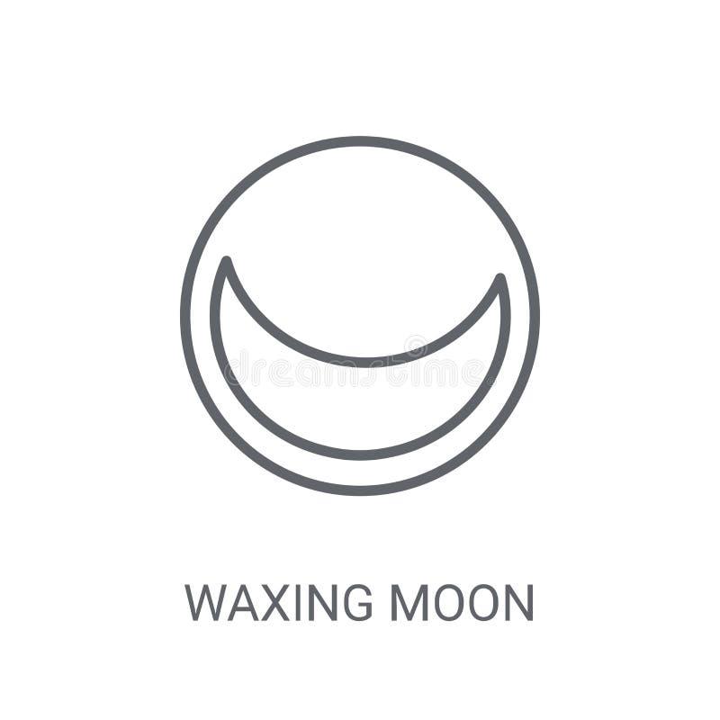 Cirage de l'icône de lune Concept de cirage à la mode de logo de lune sur le backg blanc illustration stock