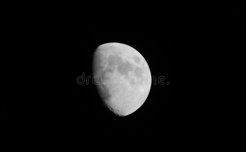 Cirage de la lune gibbbeuse à San Diego images stock