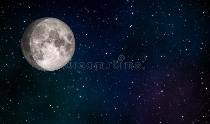Cirage du concept de construction gibbbeux d'illustration de lune illustration libre de droits