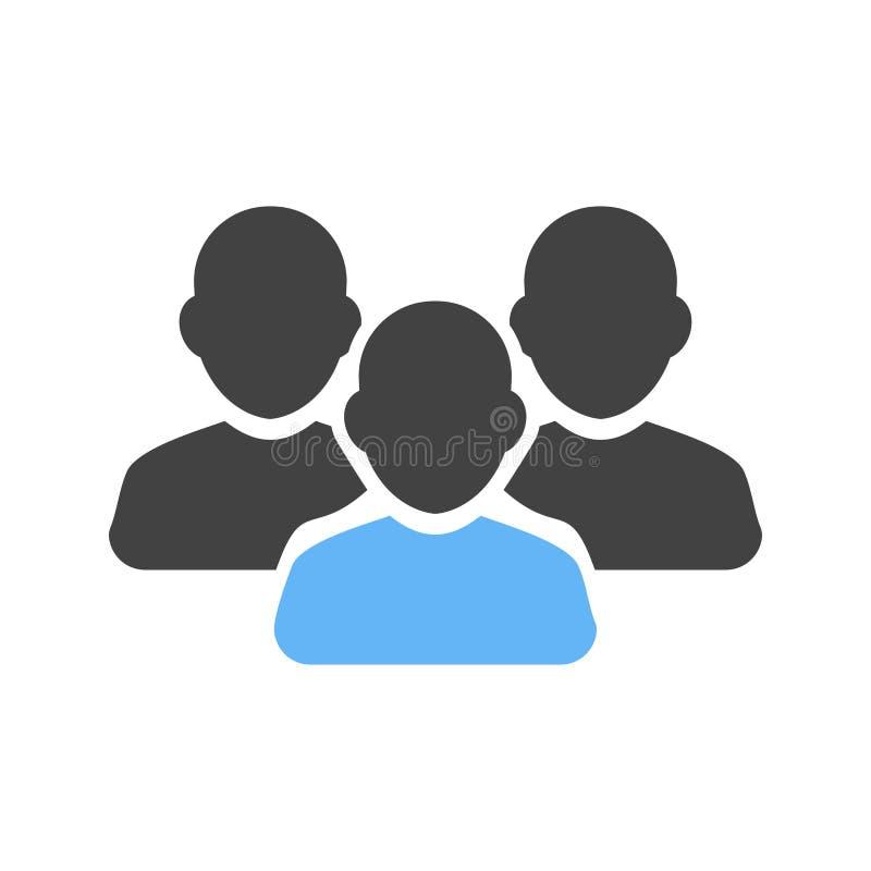 Circa, agenti, clienti illustrazione di stock