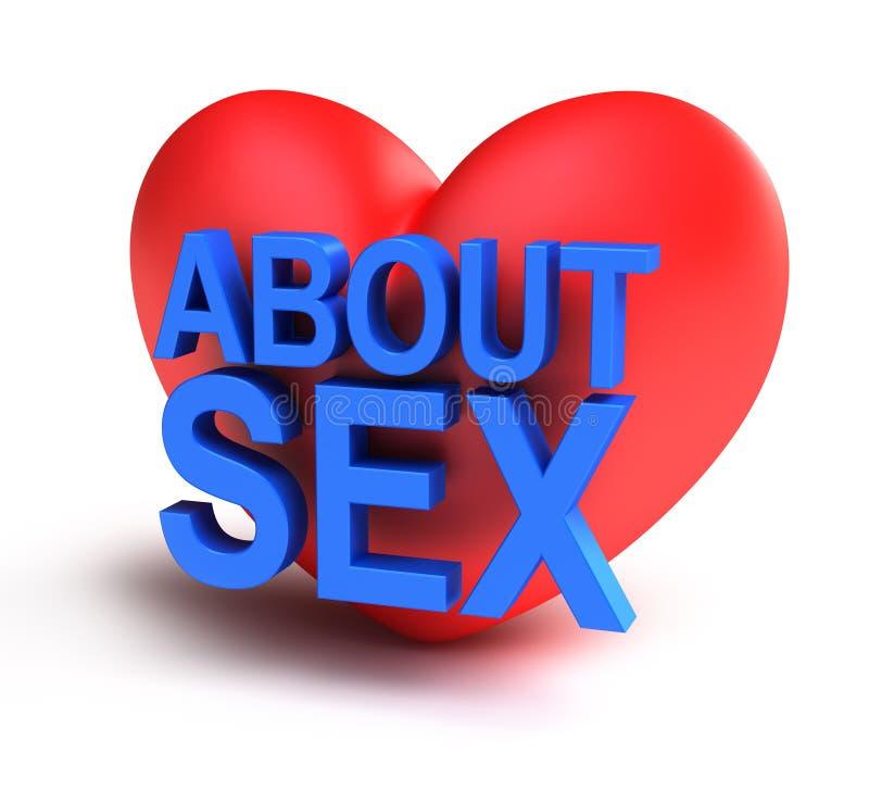 Circa il sesso isolato illustrazione di stock