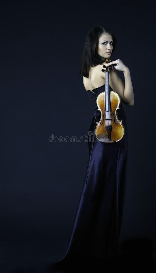 Circa il violino fotografia stock