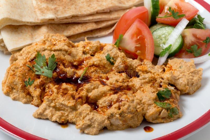 Circassian chicken meal closeup stock photos