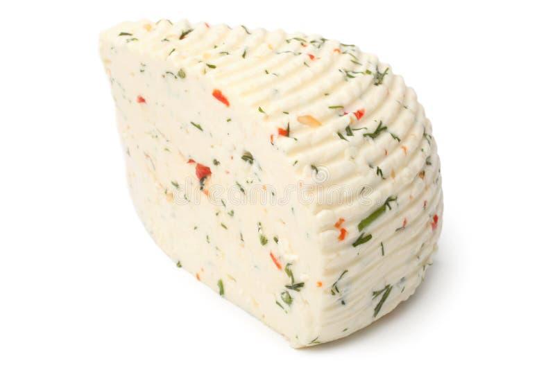 Circassian ost med örter och paprika arkivfoton
