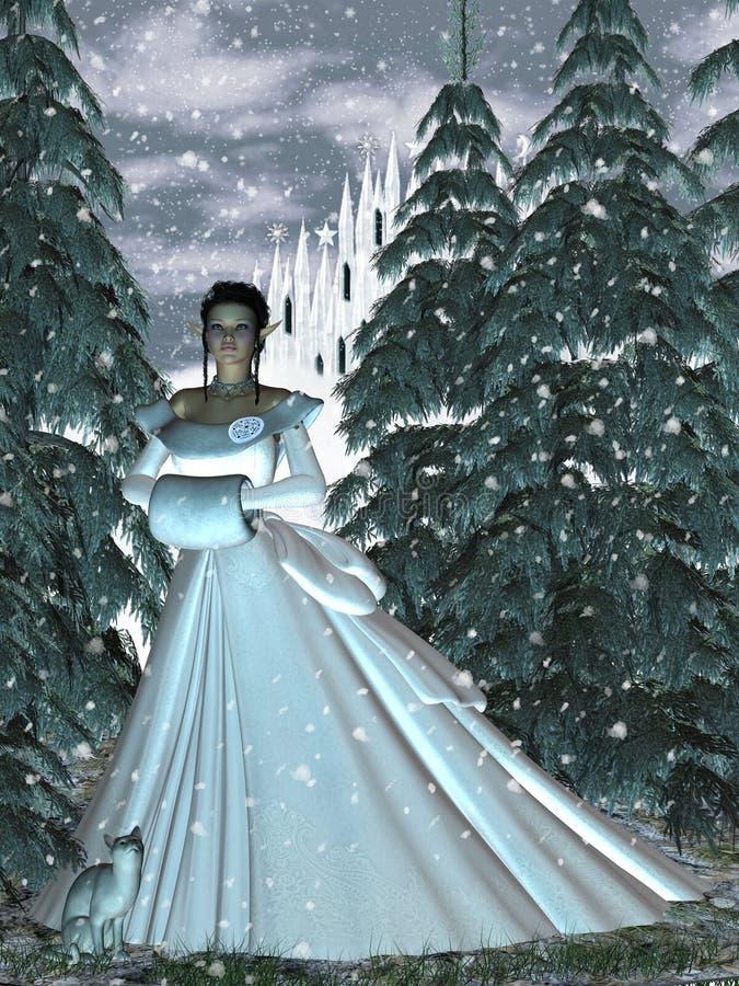 circe若虫女王/王后雪 向量例证