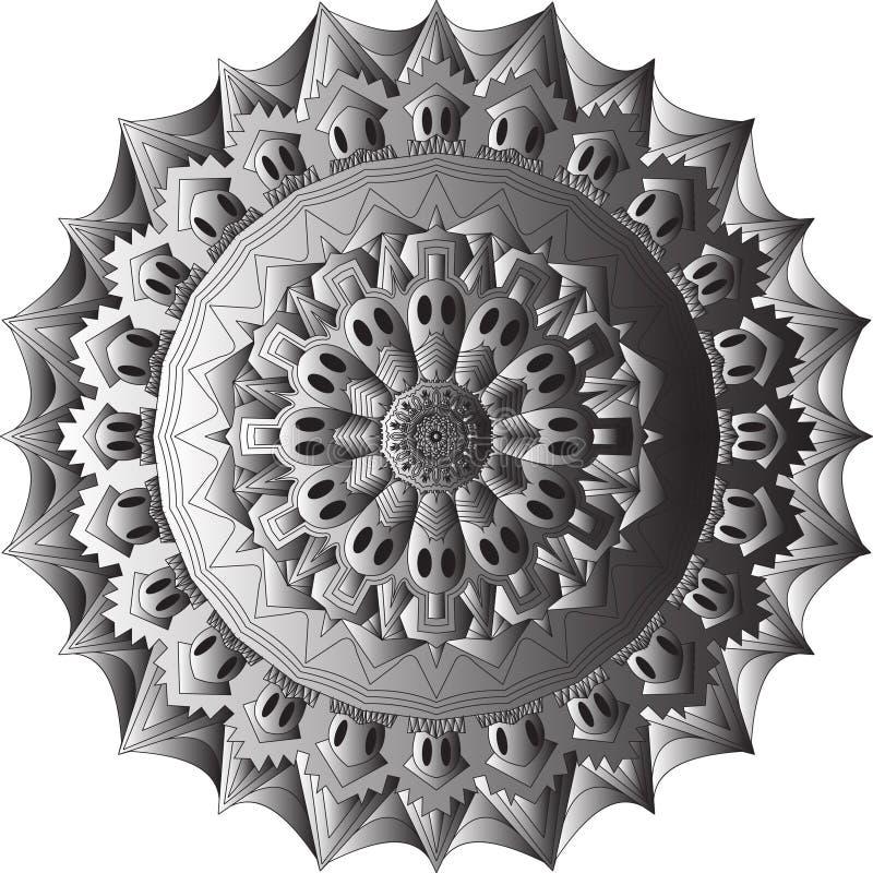 Circe мандалы черепа иллюстрация вектора