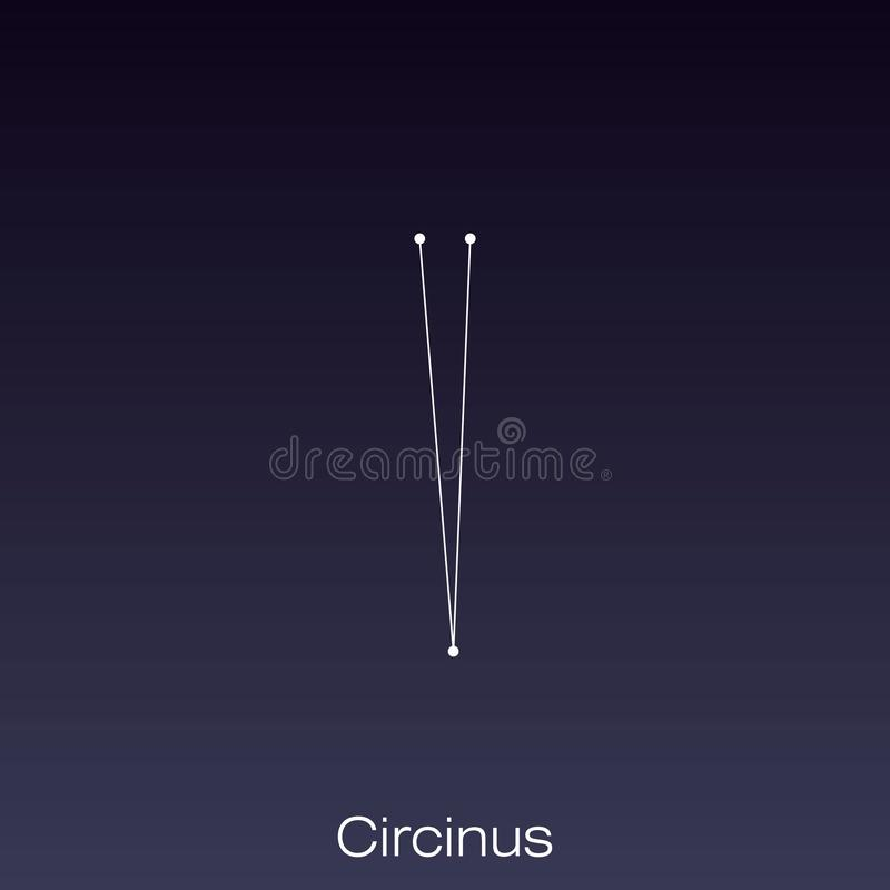 Constellation as it can be seen by the naked eye. Circinus constellation as it can be seen by the naked eye vector illustration