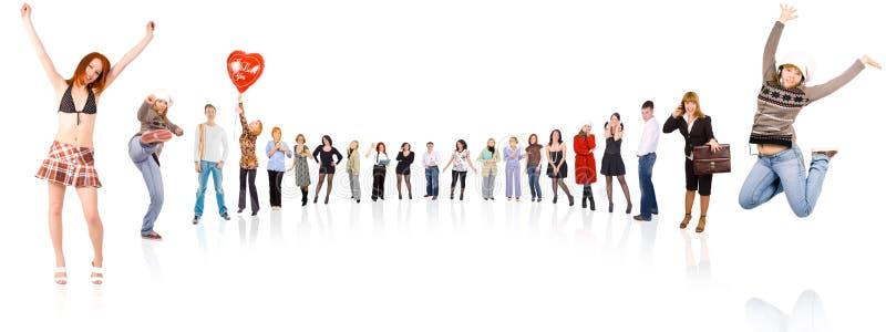 Download Circle Of 17 People Royalty Free Stock Photos - Image: 5847538