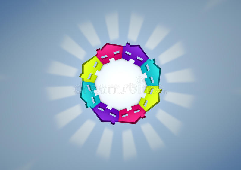 Download Circle stock illustration. Image of quarter, circle, symbol - 24330777