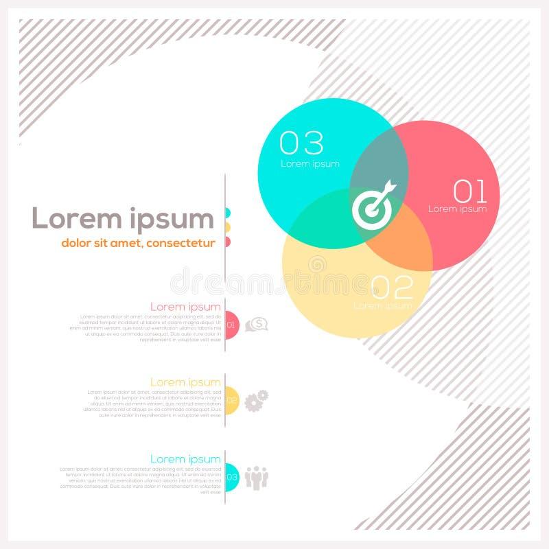 Circle Abstract Design Layout stock illustration
