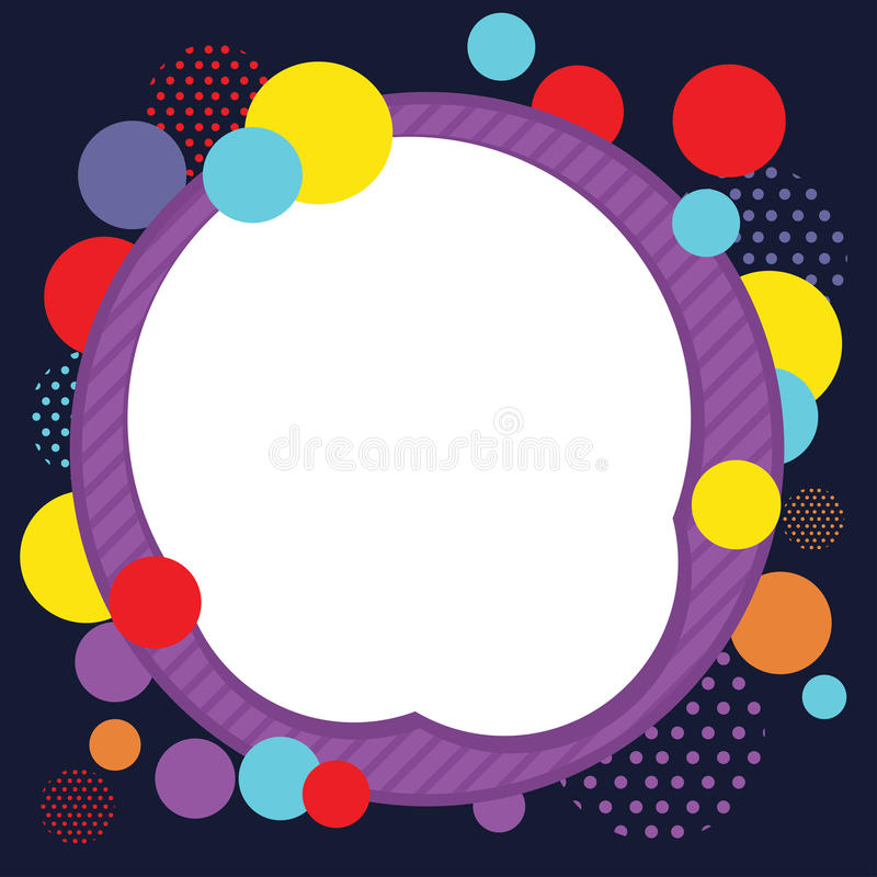 Circle Abstract Frame Background vector illustration