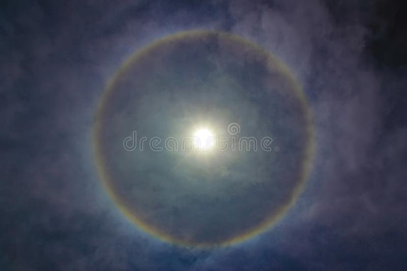 Circle around the sun. royalty free stock photo