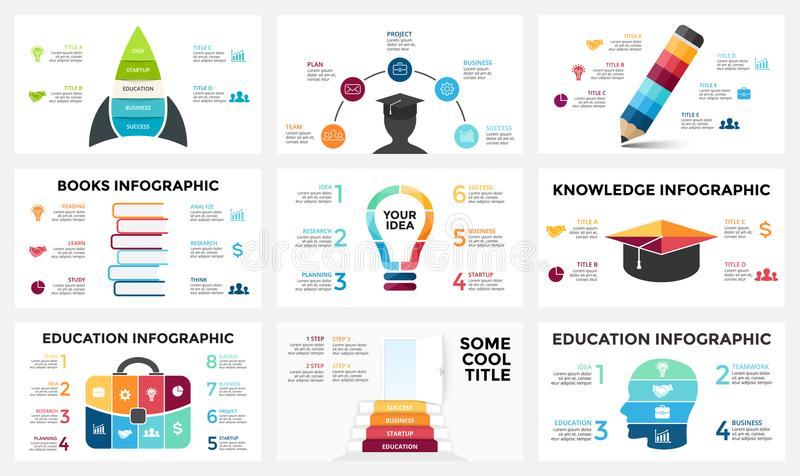 Vector arrows infographic, diagram chart, graph presentation. Business report with 3, 4, 5, 6, 7, 8 options, parts. Circle arrows diagram for graph infographic vector illustration