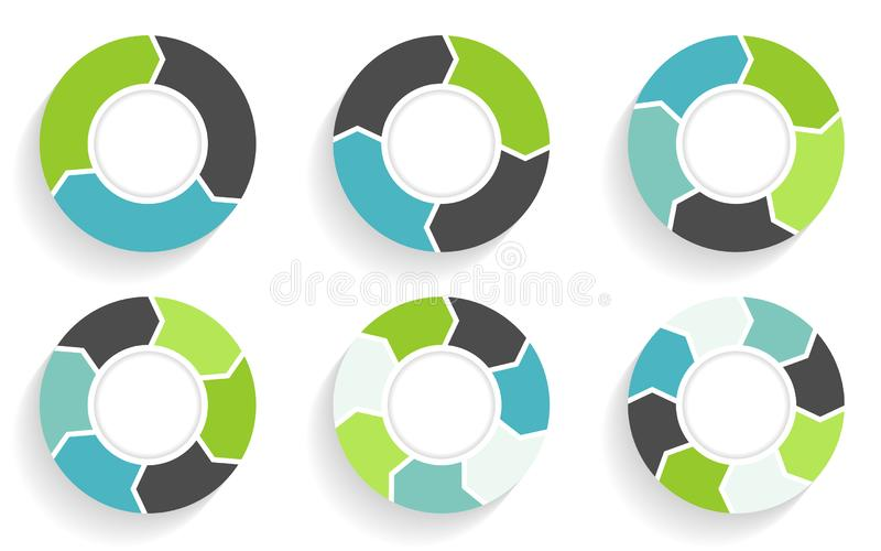 Circle arrows infographic. Business template in flat design style. royalty free illustration